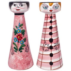 Salt and Pepper Shakers Made in Italy for Raymor, Comical Couple, 1960s