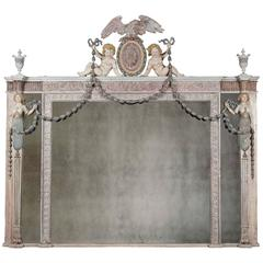 Antique Overmantel Mirror