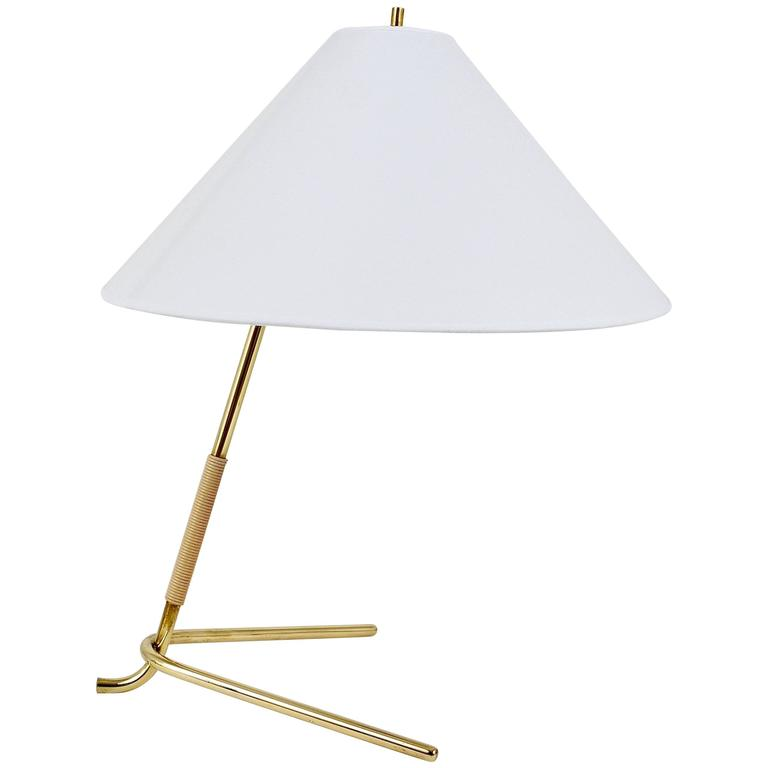 Mid-Century Kalmar Hase TL Brass Table Lamp, Austria, 1950s For Sale