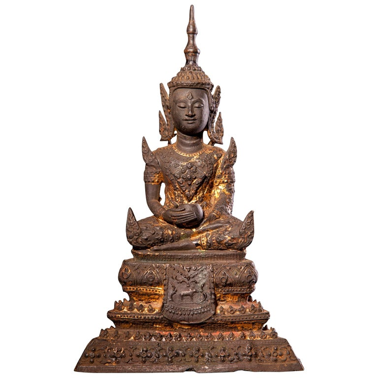 19th Century Seated Bronze Buddha