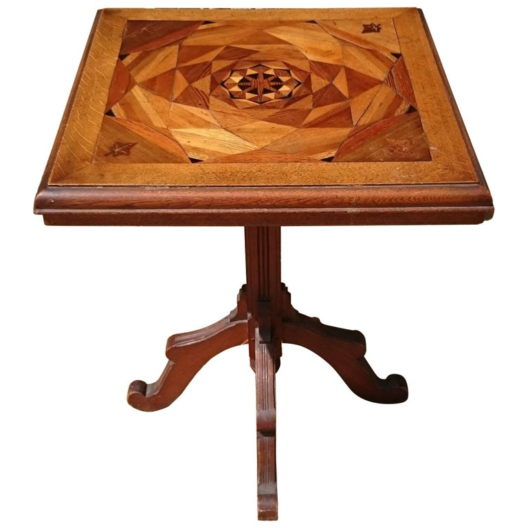 19th Century Victorian Arts And Crafts Antique Wine Table