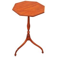 Antique Georgian Satinwood Octagonal Wine Table