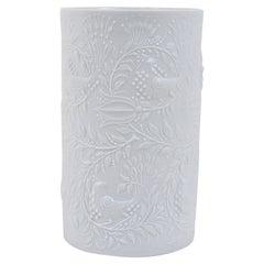 White Relief Op Art Porcelain Vase, Bjorn Wiinblad, Rosenthal Studio-Linie, 1960