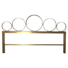 Italian Bed Head in Gilt Metal from 1960s