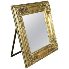 French Wall Mirror/ Table Mirror Composition Gold, France, circa 1860