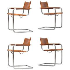 Mart Stam Armchairs by Fasem in Italy