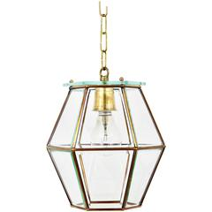 Art Nouveau Pendant Lamp Lantern in the Manner of Adolf Loos, Knize, 1900s
