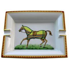 Hermès Paris, Ashtray with Horse, Hand-Painted