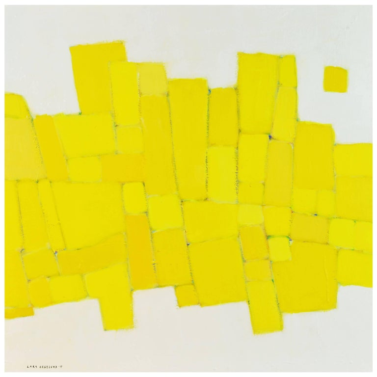 'Yellow Composition' Contemporary Abstract by Lars Hegelund, American 1