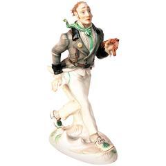 "Rare Meissen Porcelain Figurine ""Peter Schlemihl"", Willi Muench-Khe, circa 1926"