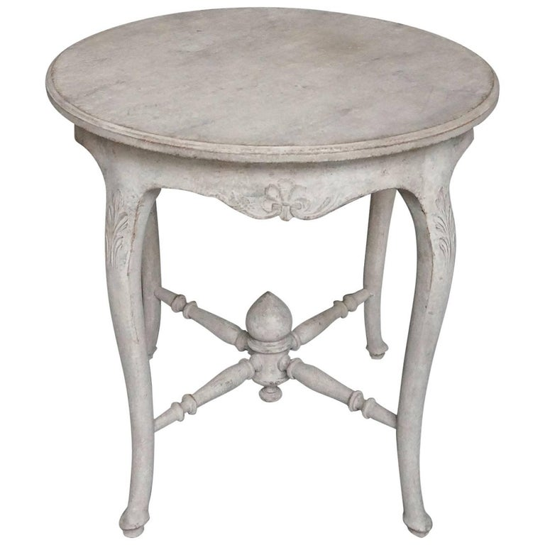 Gustavian style round side table for sale at 1stdibs for Oka gustavian side table