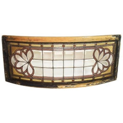 Curved Victorian Window with Bevelled Squares and Jewels