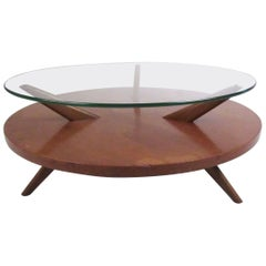 Mid-Century Two-Tier Coffee Table in the Style of Heywood Wakefield