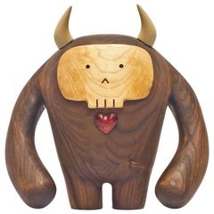 Hermanos Calavera, Jefe in Walnut by Miguel and Ilse Silva for Wooda