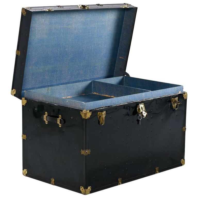 Leather Steamer Trunk 4