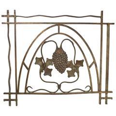 Bronze Grape Leaf Bank Teller Gate