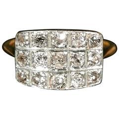 Art Deco 18-Carat Gold and Diamond Ring - Size M 1/2