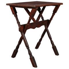 Trestle Type Lamp Table