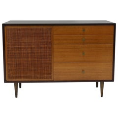 Petite Credenza in Cane and Brass by Harvey Probber