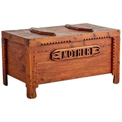 Exemplary Tramp Art Trunk for Mother, circa 1930s
