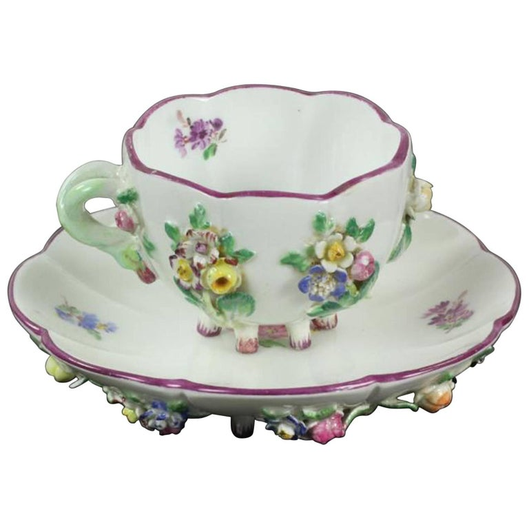 19th Century Meissen Cup and Saucer For Sale