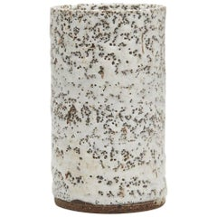 Lucie Rie Studio Pottery Stoneware Vase with Pitted Glazes