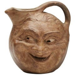 Robert Wallace Martin Large Face Jug Martin Brothers, 1897
