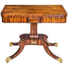Regency Card Tables and Tea Tables