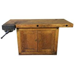 Antique Workbench, Early 20th Century