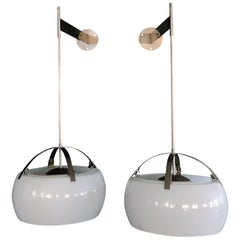 "Rare Adjustable ""Clinio"" Wall Lights by Vico Magistretti for Artemide"