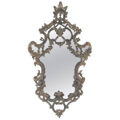 Ornate Italian Silver Leaf Mirror