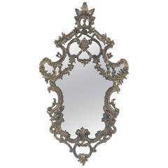 Ornate Italian Silver Leaf Mirror