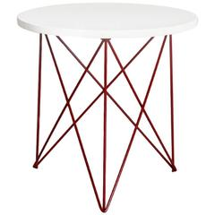 Outdoor Teak Stainless Steel Powder Coated End Side Table