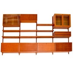 1958 Danish Teak Cado Wall Unit by Poul Cadovius