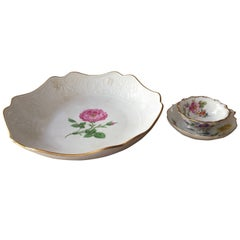 Late 19th Century Meissen Cake Plate Cup and Saucer