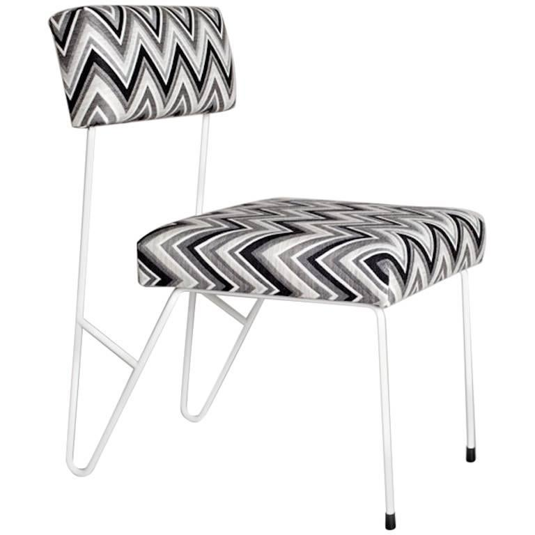 Outdoor Dining Upholstered Side Chair Powder Coated
