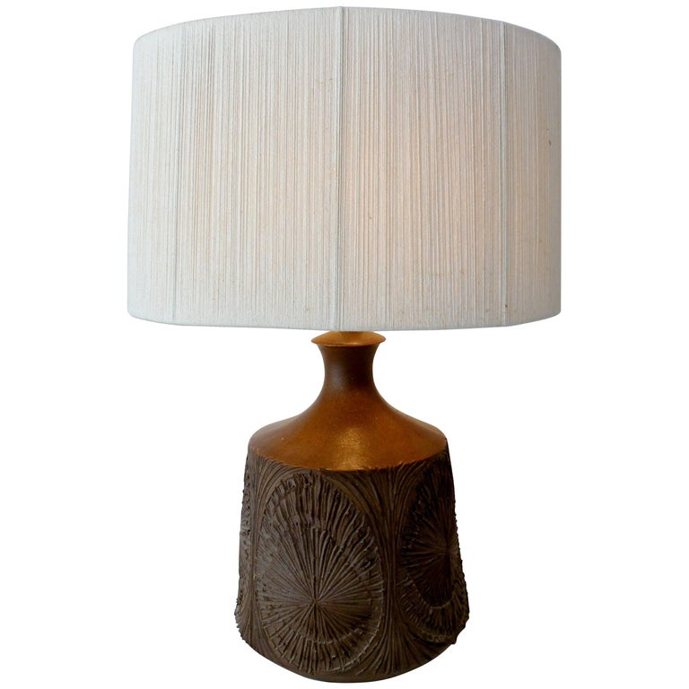 David Cressey Robert Maxwell Earthgender American Craft Pottery Table Lamp For Sale