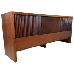 Oak & Walnut Credenza with Butterfly Joinery by Harold Schwartz for Romweber