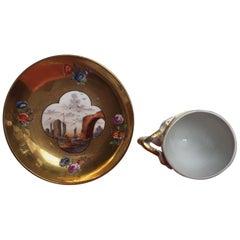 18. Jahrhundert, Meißner Porzellan Tasse und Untertasse