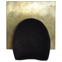 Patinated Brass and Cast Concrete Tallomet 01 Wall Sconce