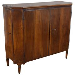 Italian Veneto Neoclassical Four-Door Credenza in Walnut, Late 18th Century