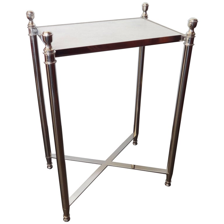 Chrome and Granite Top Side Table