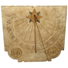 Carved Italian Marble Sundial