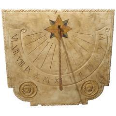 Carved Italian Marble Sundial