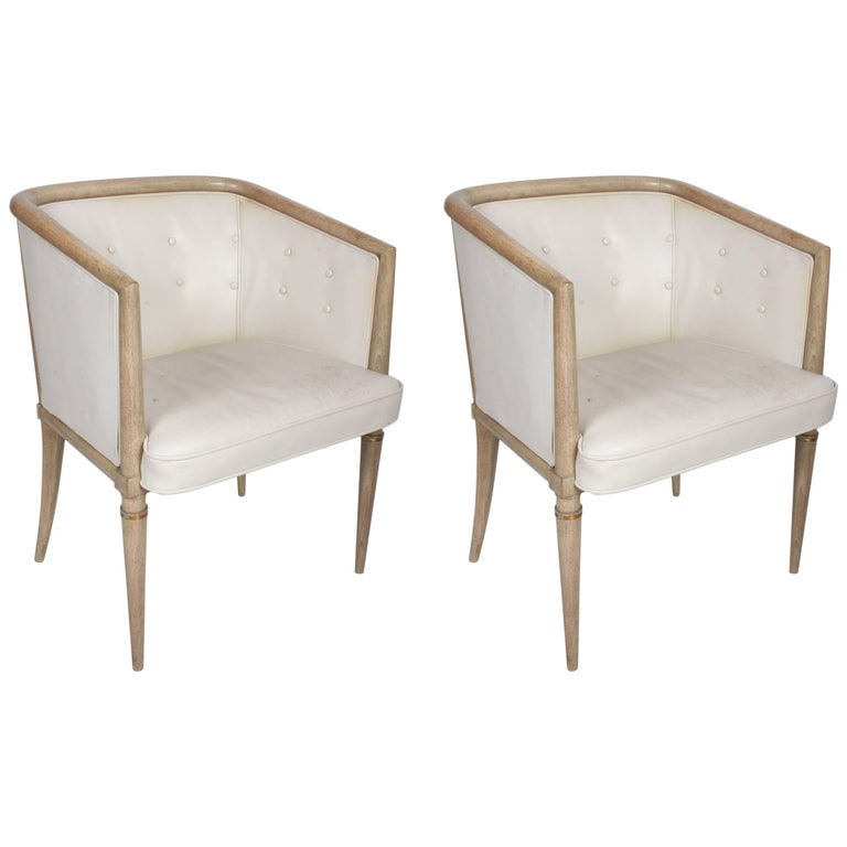 Pair of Mid-Century Modern Occasional Chairs in the Style of Tommi Parzinger
