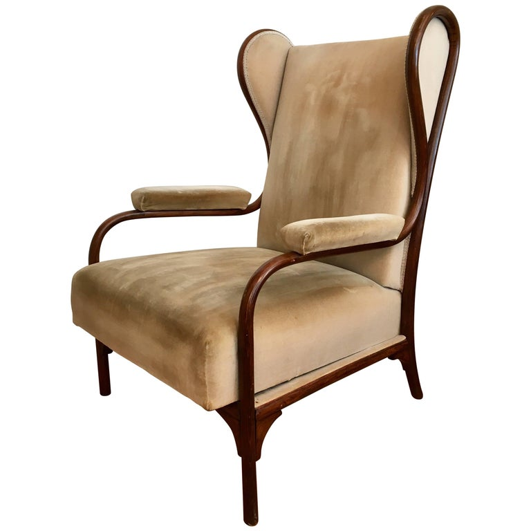 Gebruder Thonet Model 6541 Wing Chair For Sale