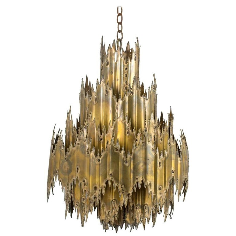 Tom Greene Brutalist Chandelier, 1960's 1