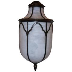 English Leaded Glass Lantern