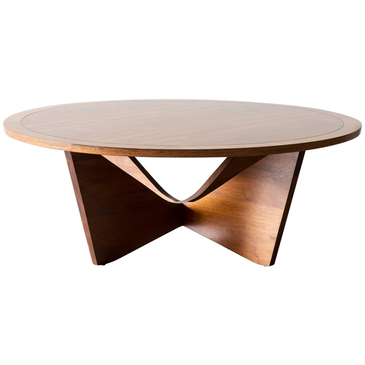 rare george nakashima coffee table in laurel and walnut for