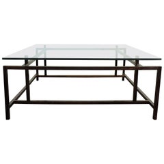 Henning Norgaard Danish Modern Rosewood and Glass Coffee Table for Komfort